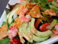 Shrimp and Avocado Nachos salad
